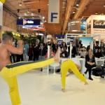 Capoeira dominou o estande do Brasil