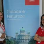 Christina Gläser e Fernanada Maldonado, do Turismo da Suíça