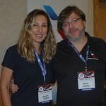 Daniella Barros e Ricardo Silva, da American Airlines