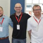Dario Gross, da Jungfrau Railways, Thorsten Frohn, de St. Moritz, e Andreas Nef, do Swiss Travel System (2)