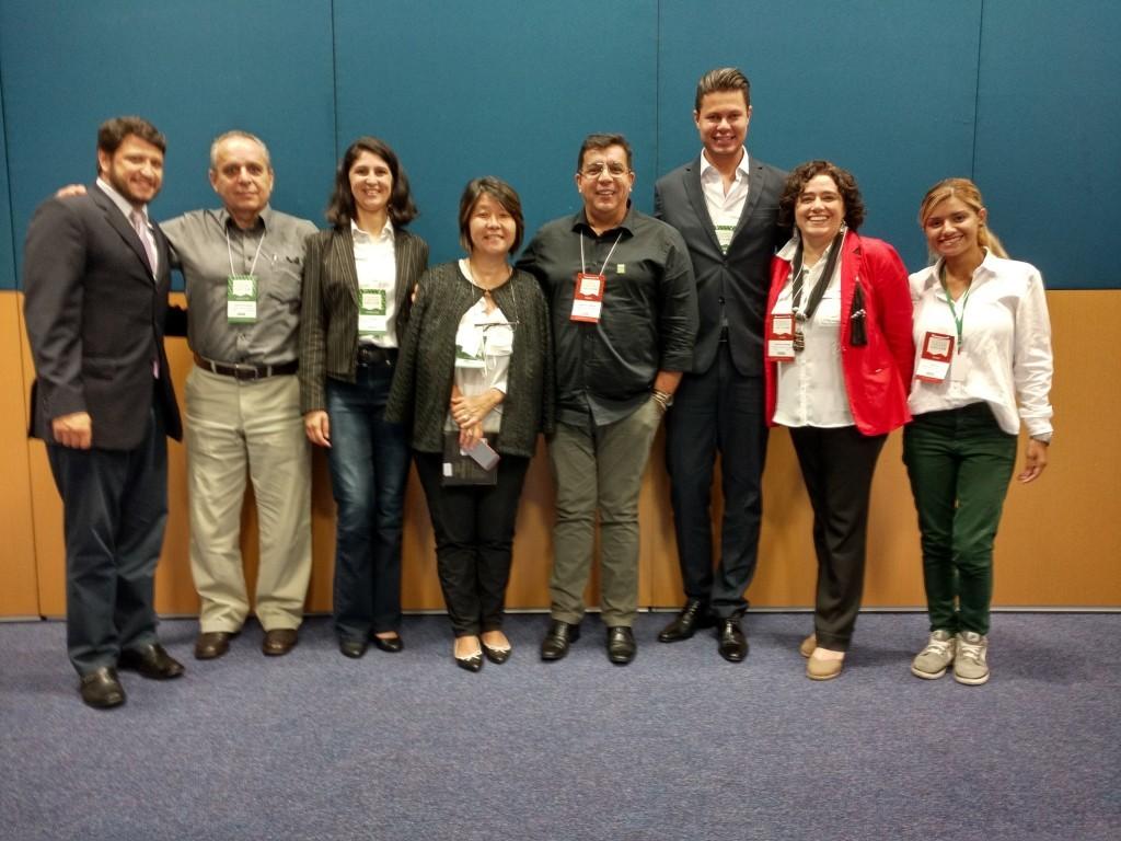Diretoria e equipe técnicas do CVBx presentes na reunião - foto divulgação