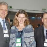 Edmar Bull e Antonio Azevedo, da Abav com Tatiana Turra, do Instituto Municipal de Turismo