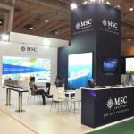 Estande da MSC Cruzeiros