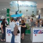 Estande de Santa Catarina é um dos mais cheios da feira
