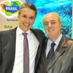 Felipe Carreras, candidato, e Nilo Felix, presidente do Fornatur