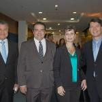 Felipe Gonzalez, da Abav-PR, Fernando Valente, do Igu City Bus, Trícia Sander, da 8 Vias Consultoria, e Pedro Falcon, da Personal Brasil