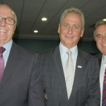 Francisco Leme, Luis Vabo e Ronaldo Waltrick, VP Administrativo, diretor de Tecnologia e Integração, e VP Financeiro da Abav, respectivamente
