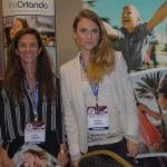 Jane Terra e Natália Vidal, do Visit Orlando
