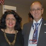 Jussara Haddad e Sergio Teixeira, do Consulado Americano