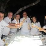 Luigi Rotunno brinda com convidados