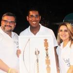 Luiz Fabri e Andrea Trindade da Tam Viagens, premiados