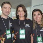 Marcos Welder, Mira Angeli e Elaine Musolino, do Festival das Cataratas