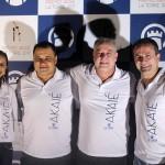 Michael Barkoczy eDaniel Firmino da Flytour com Luigi Rotunoo e Rebeca Batista, do La Torre