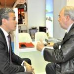 O bate-papo entre o candidato, Felipe Carreras, e o atual presidente do Fornatur, Nilo Sergio Felix