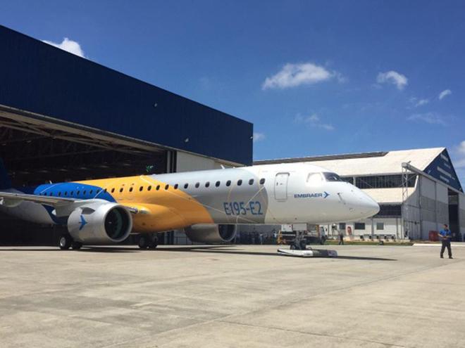 Aeronave E195-E2, último lançamento da Embraer