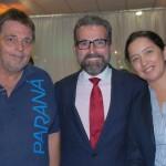 Orley Oliveira, da Prefeitura de Morretes, Pedro Marotta, consul da Argentina em Curitiba, e Valéria Martinez, da Argentina