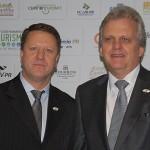 Pedro Kempe e Edmar Bull, presidentes das Abavs PR e Nacional