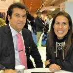 Ruy Gaspar, secretário de Turismo do RN, e Gisele Lima, da Promo