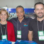 Sandra Alecrim, Arthur Marques e Julio Gimenes, de Porto de Galinhas