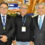 Vinicius Lummertz, presidente da Embratur, Arialdo Pinho, secretário de Turismo do CE, e Alberto Alves, viceministro do Turismo