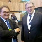 Vinicius Lummertz, presidente da Embratur, e Francisco Coelho, CEO da Turismo Açores