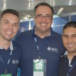 Vitor Spirandelli, Maurício Medeiros e Cristian Carneiro, da MSC