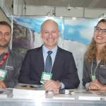 Wellington Melo, Marcelo Figueiredo e Joyce Rego, da Avianca