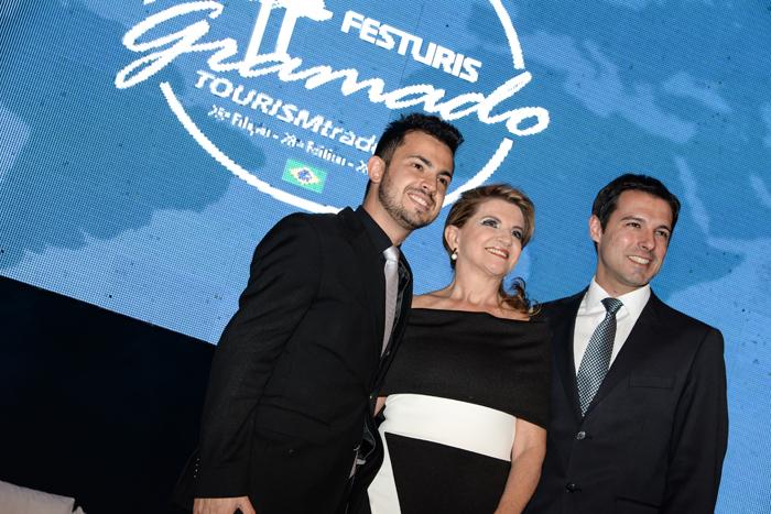 Marcus Rossi, Marta Rossi e Eduardo Zorzanello, diretores do Festuris