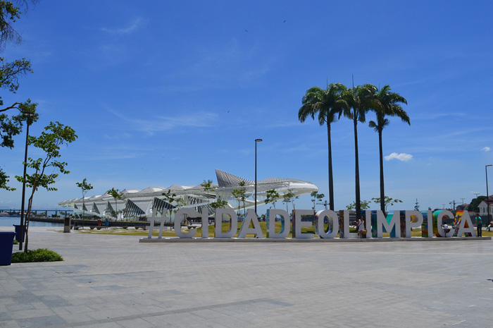 Durante os jogos Olímpicos, o Museu do Amanhã foi destaque na Cidade Olímpica.
