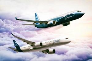 Airbus e Boeing entregam mais de mil aeronaves até setembro de 2018
