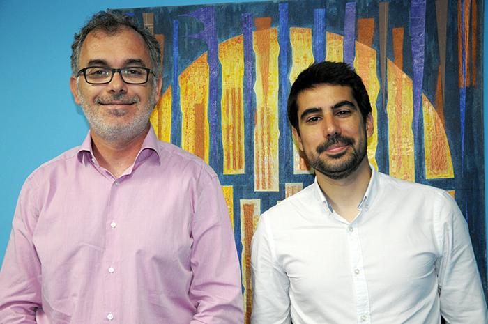 Alex Vellyra e Hugo Sanchez, da  empresa espanhola Mabrian
