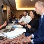 Andrea Landaeta, do Turismo da Australia, com Gabriel Cordeiro, da BWT, Fabiola Helou, da Menton Viagens e Turismo, e Fernando Miguel Zingler, da IPTC