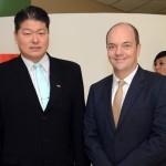 Bruno Omori, da ABIH SP, e Rogerio Hamam, do Conselho Consultivo do SPCVB