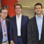 Cassio Oliveira, Juarez Cintra Neto e Guilherme Machado, da Ancoradouro