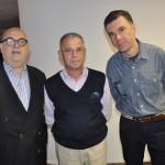 Cassulino, da Ancoradouro, com Manoel Pereira da Silva, da Hope Travel, e André Martellotta, da Beat Turismo e Eventos