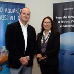 Craig Bavinton, com Andrea Tamashiro, da Air New Zealand