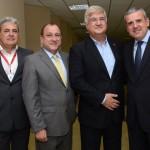 Eduardo Colturato, da SPTuris, Toni Sando, do SPCVB, David Barioni, da SPTuris, e Juan Pablo de Vera, da Reed