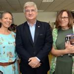 Elenice Ferrari e Beatriz Azevedo Castro, do Espaço Conhecimento, e David Barioni, presidente da SPTuris