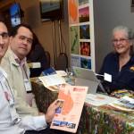 Fernando Sorrentino e Guilherme Campos, da Flot Viagens, e Joana Burnet, da Visit OZ