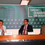 Luiz Melo, da FINEP, José Barreiro, da MCTIC, e Herculano Passos, presidente da Comissão de Turismo da Câmara dos Deputados