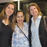 Mariana Caldeira, da Mariana Caldeira Viagens, Aline Oliveira, da Web Travel, e Cristina Giamarino, da Open Mind Intercâmbio