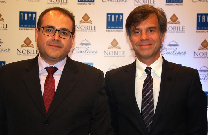 Roberto Bertino, presidente da Nobile, e Luis Mirabelli, vice-presidente de Desenvolvimento para América Latina e Caribe da Wydham