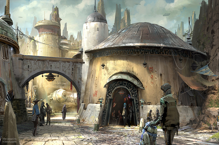 Disney wants guests to experience an immersion into the world of Star Wars when the themed lands open in 2019 at Disney World and Disneyland.