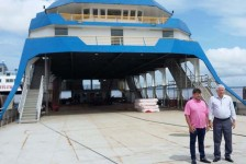 Ferry boat que fará Belém-Ilha de Marajó recebe visita técnica da Setur