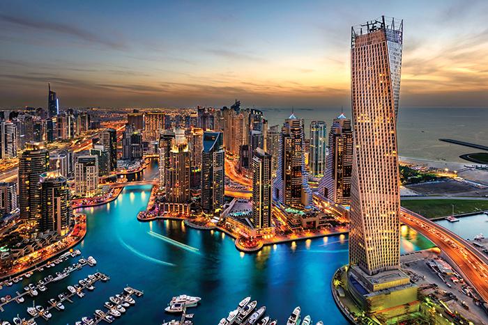 Vista panorâmica de Dubai