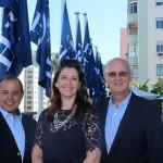 Juan Gonzalez, vice presidente America do Sul, Laura Castannini, gerente geral e Tom Potter, vice presidente de Operações Senior, America Latina