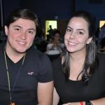 Lucas Shwitzer e Juliana Xavier, da Abeoc-SC