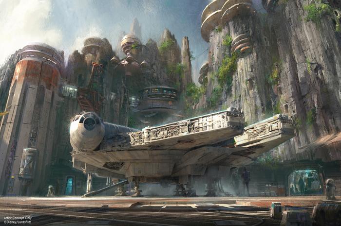 Perspectiva de como ficará a nova área de Star Wars