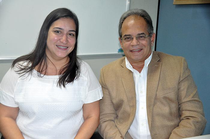 Ana Paula Fernandes e Ricardo Lopes, organizadores da TBN