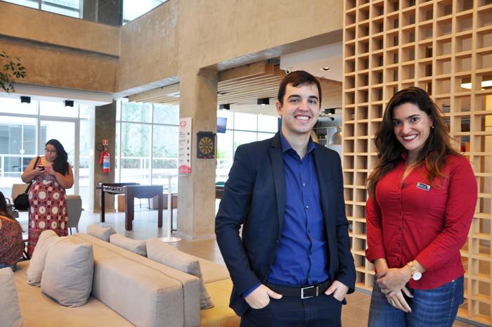 Cinara Jabour, gerente de Vendas e Rodolfo Oliveira, gerente Geral